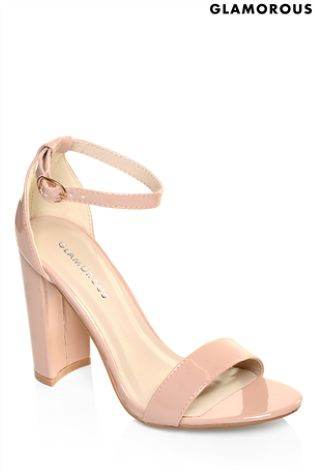 1f6820d45878 Buy Glamorous Patent Barely There Block Heel Sandals from Next Ireland
