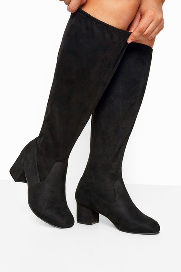 Buy Yours Curve Stretch Faux Suede Knee