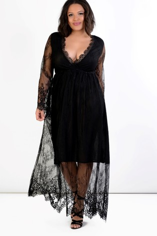 168be61ac0b4de Buy Glamorous Curve Lace Maxi Dress from Next Italy