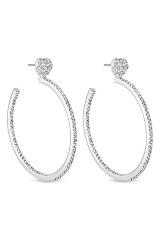c3c09e7f87c4b2 Buy Lipsy Crystal Heart Hoop Earrings from Next Lebanon