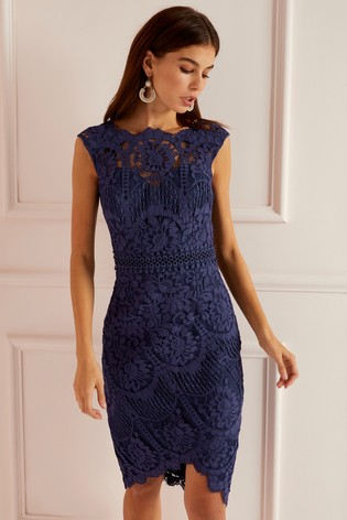 fb82c13901 Buy Lipsy VIP Lace Asymmetric Hem Midi Dress from Next Lithuania