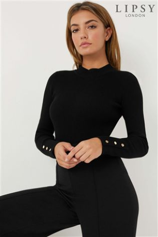 332d550151f0 Buy Lipsy Button Sleeve Turtleneck Jumper from Next Ireland