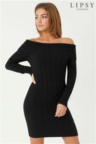 80b51a4b64f Buy Lipsy Cable Bardot Tunic Dress from Next Ireland