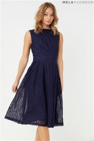 Buy Mela London Textured Stripe Prom Dress From The Next Uk Online Shop