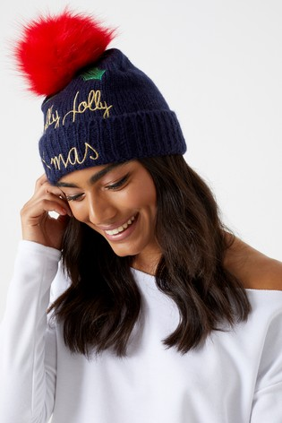 60403ec32c9 Buy Alice Hannah Embellished Holly Beanie from Next Kuwait