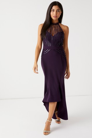 2df75c77e55f Buy Lipsy Sequin Scallop Fishtail Maxi Dress from Next Czech Republic