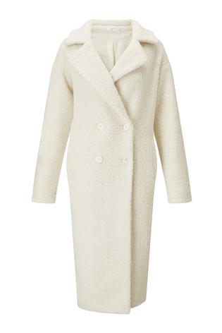 3f1f3a94b Buy Missguided Teddy Longline Coat from Next Cyprus