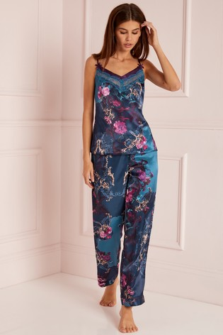 30f2ea4548 Buy Lipsy Floral Satin Cami And Trouser Pyjama Set from the Next UK ...