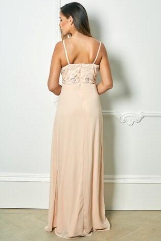 Buy Sistaglam Loves Jessica Rose Strappy Embellished Bodice Maxi