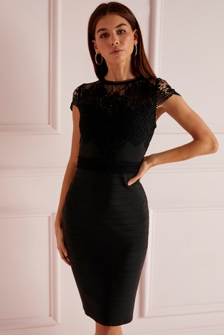 67e8579c008c Buy Lipsy Lace Trim Bandage dress from Next Ireland