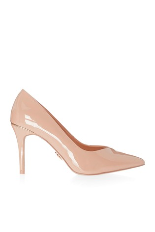 Buy Lipsy Nude Mid Heel Courts from the