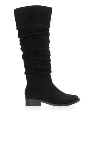 Buy Lipsy Ruched Flat Knee Boots from