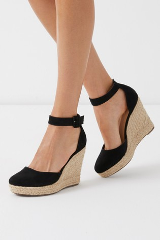 410cdab0f89 Lipsy Closed Ankle Strap Espadrille Wedges