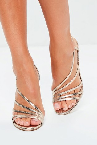c5009350fe97e9 Buy Missguided Asymmetric Strap Heel Sandals from Next India