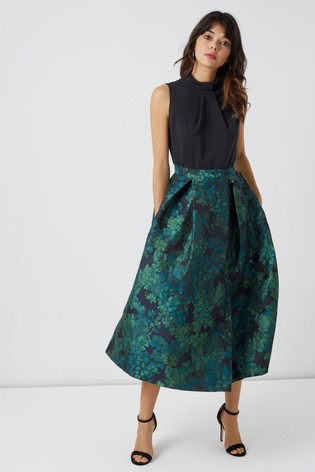 Buy Closet Collar Full Skirt Midi Dress from Next Israel 21a8f7baa