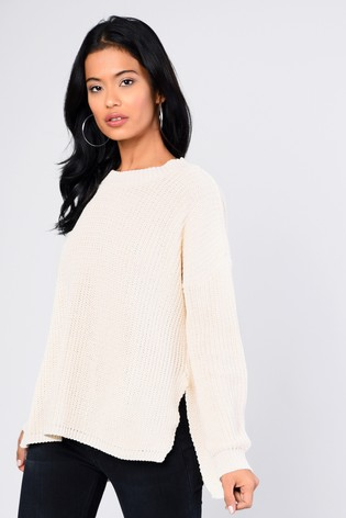 399bde29416ce6 Buy Glamorous Knitted Jumper With Split Sides from Next USA