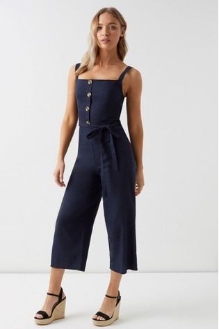 f6bd54b8f85 Buy Lipsy Linen Blend Button Jumpsuit from Next Ireland