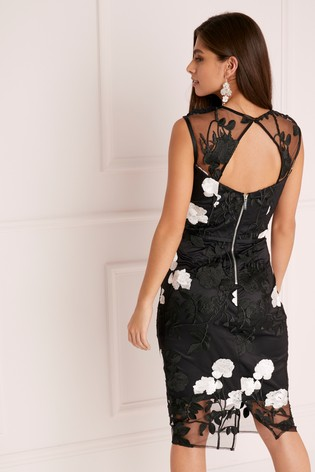 d149c3519633 Buy Lipsy VIP Mono Lace Embroidered Midi Dress from Next Cyprus