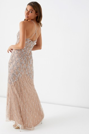 42af653f0f Buy Maya Petite Crossback Cage Embellished Maxi Dress from the Next ...