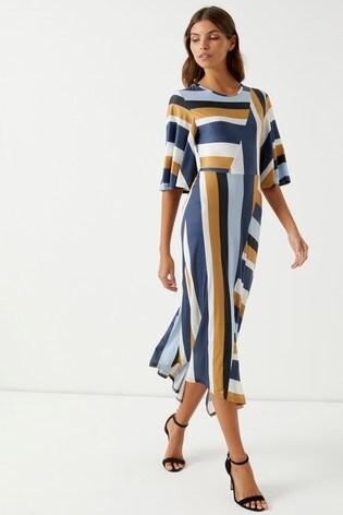 6f988ea76c7c Buy Boohoo Stripe Slinky Midi Dress from Next Ireland