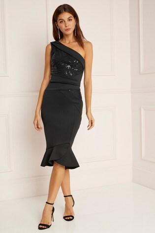 Buy Abbey Clancy X Lipsy Petite One Shoulder Bodycon Dress From Next Usa