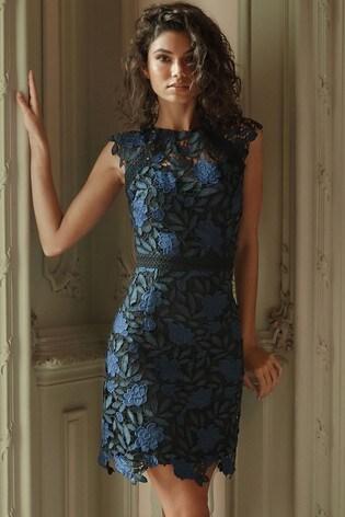 8c82fb5bc91bd Buy Lipsy Two Tone Lace A line Midi Dress from Next Croatia