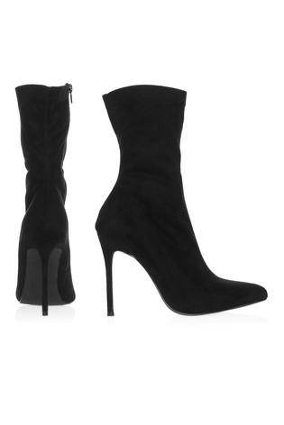 14ad2d5e406 Buy Boohoo Wide Fit Suede Sock Boots from Next Ireland
