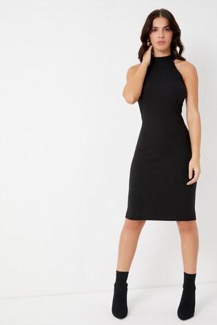 b8eec4a27fe Buy Lipsy High Neck Rib Midi Dress from Next Netherlands