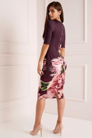 0f289b5596e5 Buy Lipsy Long Sleeve Amelie Print Bodycon Dress from the Next UK ...