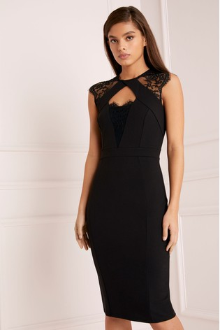 Buy Lipsy Lace Insert Bodycon Dress from the Next UK online shop 6925758a5633