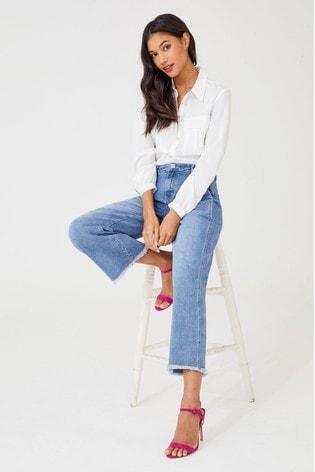 джинсы на завышенной талии 2