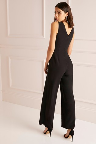 f18959bfd5 Buy Lipsy Petite Cross Front Wide Leg Jumpsuit from Next Ireland