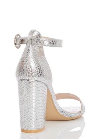 9d98cb7e58 Buy Quiz Two Part Block Heel Sandals from the Next UK online shop