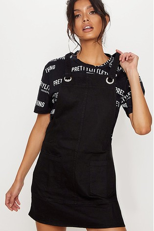 Buy Prettylittlething Denim Pinafore Mini Dress From Next Ireland