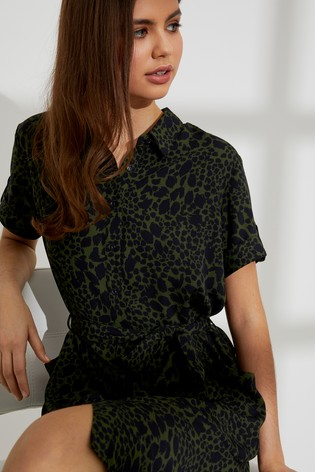 fc5ff76aa9 Buy Dorothy Perkins Petite Leopard Print Shirt Dress from Next Hong Kong