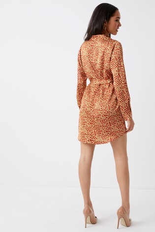 345e08c1e50 Buy Boohoo Animal Print Shirt Dress from the Next UK online shop