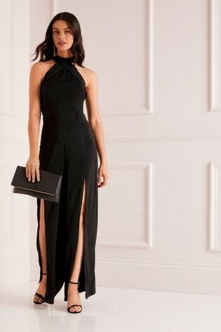 c174946d0ea Buy Lipsy Halterneck Split Leg Jumpsuit from Next Ireland
