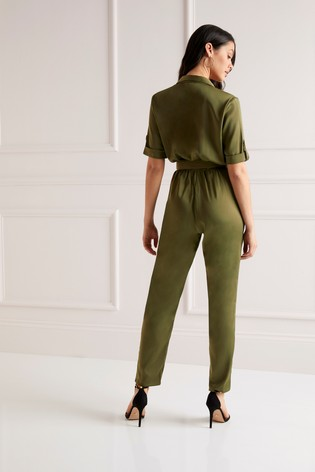 dfed612c0756 Buy Lipsy Utility Satin Jumpsuit from the Next UK online shop