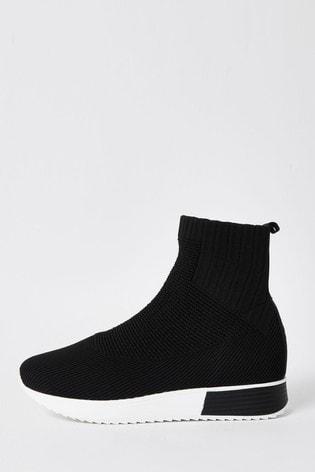 Buy River Island Black Higher Sock
