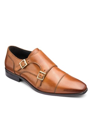 ef651ce31a Buy Jacamo Wide Fit Leather Double Monk Shoes from Next Slovakia