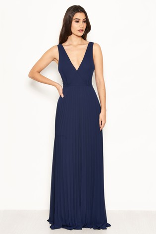 differently latest design outlet sale AX Paris Pleated Chiffon Lace Strap Maxi Dress