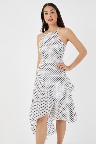 30ee69003f03 Buy Boohoo Polka Dot Asymmetric Hem Dress from Next Slovakia