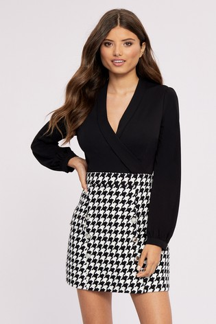 great prices quality classic styles Lipsy 2 In 1 Dogtooth Dress