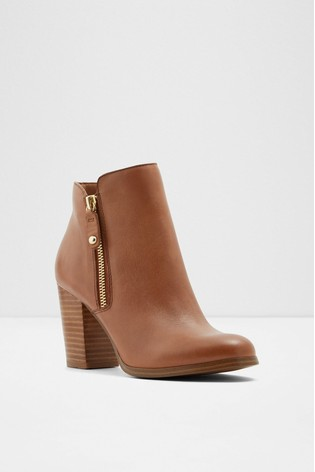 Aldo Wide Fit Leather Ankle Boot with