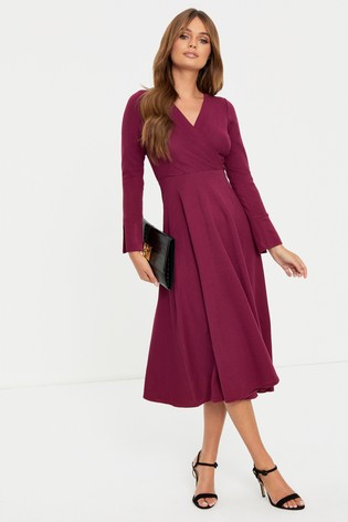 Closet Long Sleeve Wrap Dress