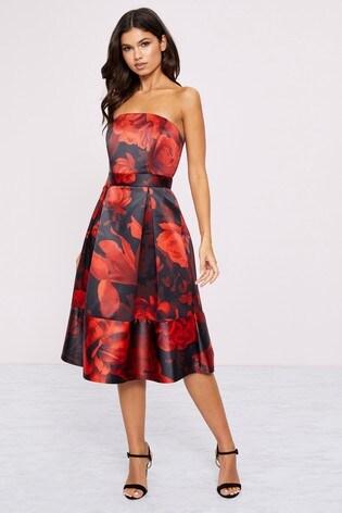 Lipsy Rosa Print Prom Dress by Next