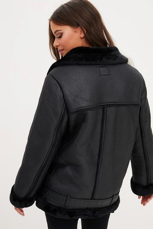 best place for 100% genuine catch PrettyLittleThing PU Aviator Jacket