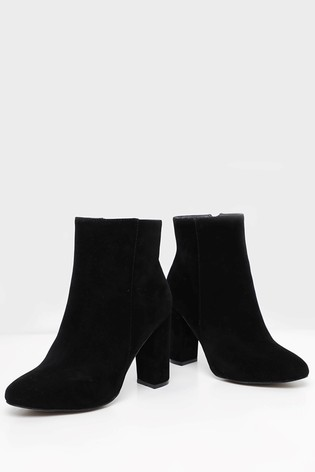 detailed look new products elegant shoes Buy PrettyLittleThing Wide Fit Block Heeled Ankle Boots from the ...