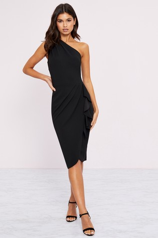 buy popular best deals on look for Buy Lipsy One Shoulder Ruffle Midi Dress from the Next UK online shop