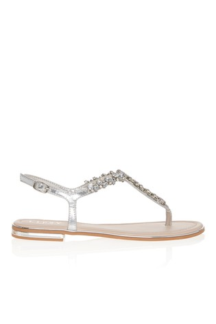 top design reliable quality large discount Buy Lipsy Wide Fit Diamanté Flat Sandal from the Next UK online shop
